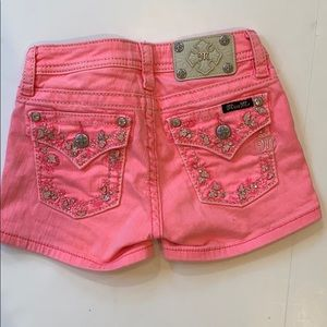 Miss Me girls pink jean shorts size 10